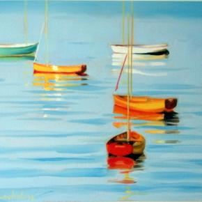 Boats, evening light